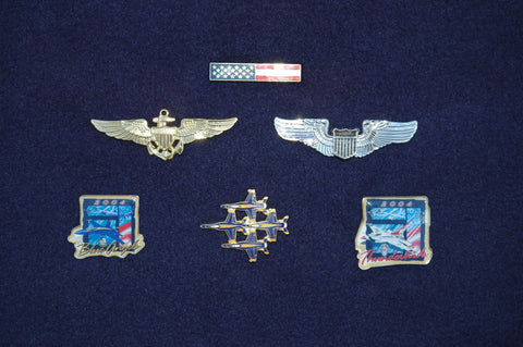 Blue Angels Diamond Formation (top-side) Pin