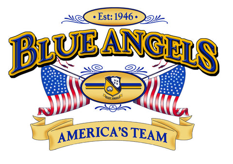 Blue Angels Poster Adult Tee