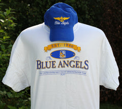 Blue Angels Adult Tee Shirt/Hat Combo