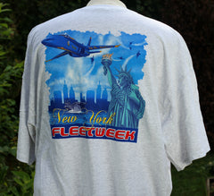 Blue Angels Fleet Week New York Liberty Adult Tee