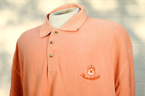 Thunderbird Color on Color Peach Polo