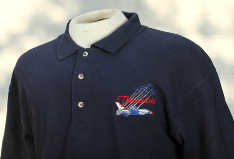 Thunderbird Delta with Smoke Navy Polo