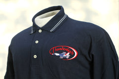 Thunderbird Swoosh Navy with White Stripe Polo