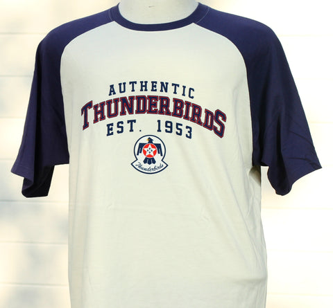 Thunderbird Authentic Raglan  Natural Tee