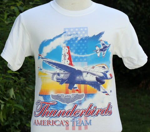 Thunderbird Front Only WIngs Adult Tee Shirt