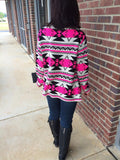 Diamond Cardigan-Pink