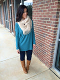 Piko-All You Need Top-Teal