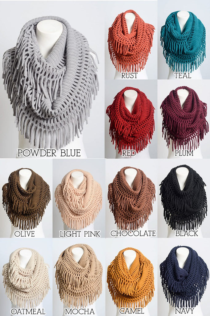 Fringe Worthy Scarves (MULTIPLE COLOR CHOICES)