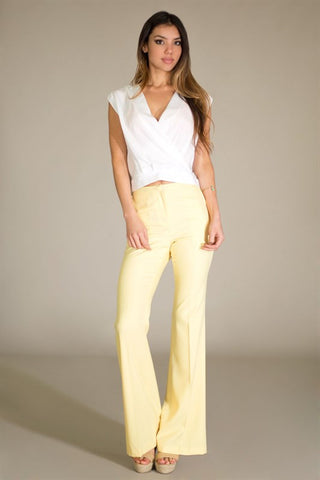 Working Girl Trousers-Yellow