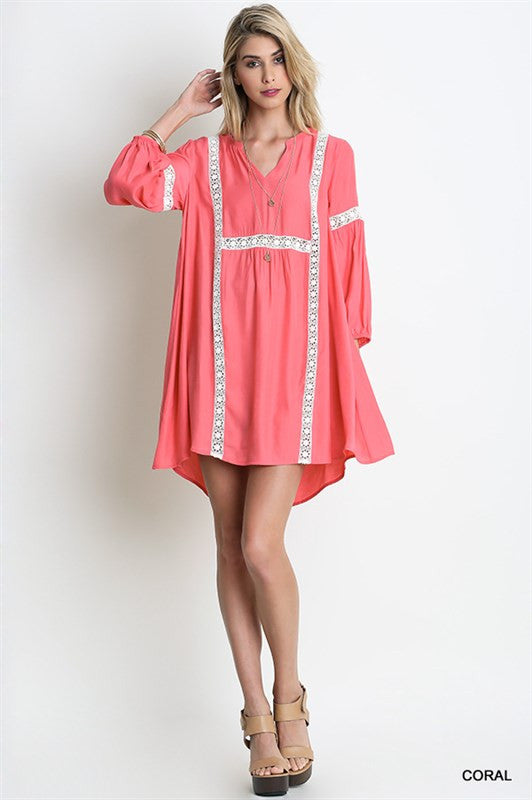 Hello There Tunic-Coral