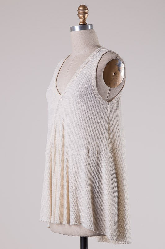 Kara Tunic Tank-Natural