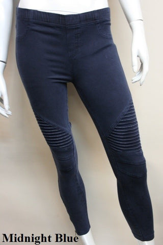 Anara Moto Jeggings-Midnight Blue