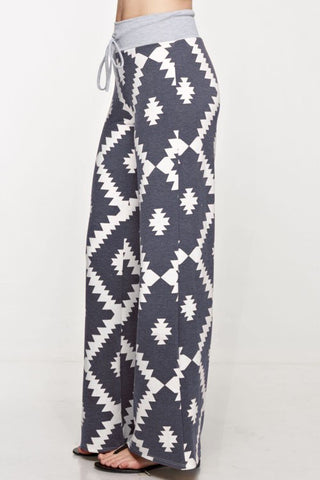 Aztec Comfy Lounge Pants-Navy