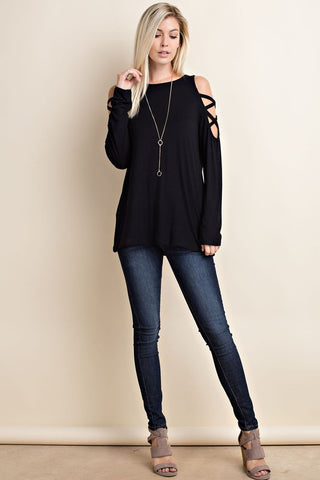Side To Side Top-Black