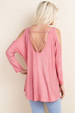 Always A Party Top-Washed Coral