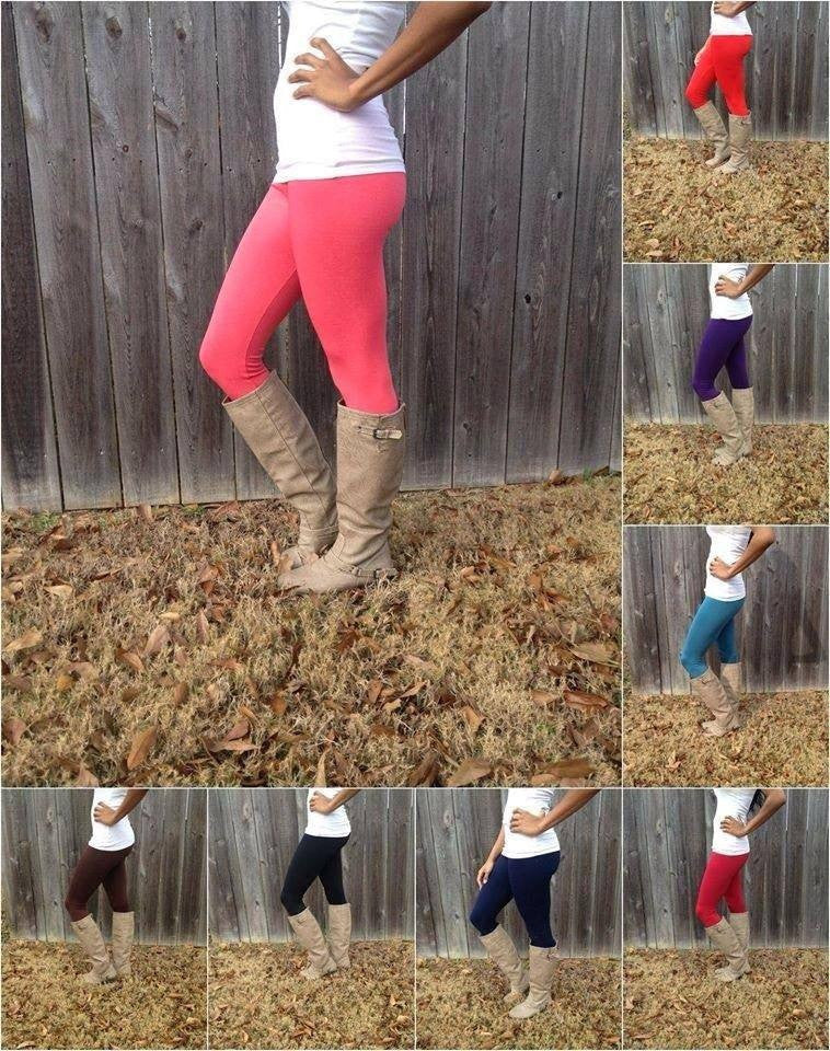 Fleece Lined Leggings-(MULTIPLE COLOR CHOICES)