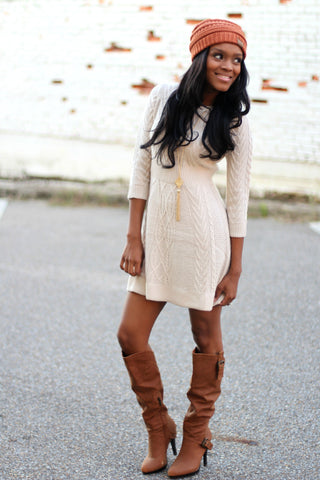Until Dawn Sweater Dress-Oatmeal