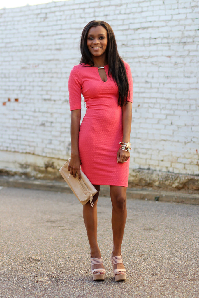 Like A Boss Dress-Coral