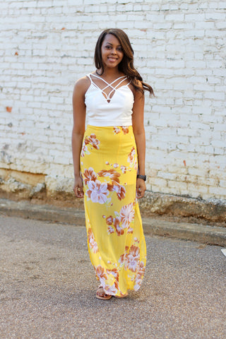 Floral Affari Maxi Dress-Sunshine