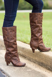 On The Dotted Line Boots-Dark Tan(Heel)