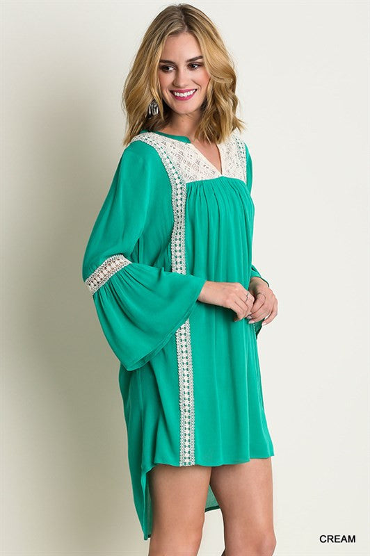 The Other Side Tunic-Kelly Green