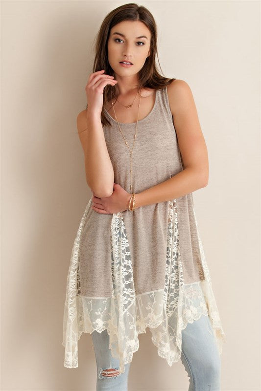 Whimsical Night Sweater Tunic-Sand