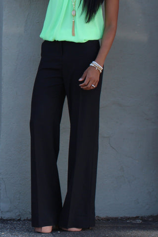 Working Girl Pants-Black