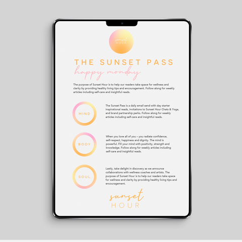 The Sunset Pass - Your Daily Dose of Wellness