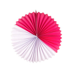 paper lantern - white and fuchsia