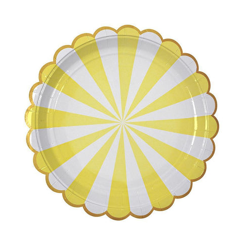 yellow stripe large plates