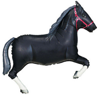 black horse balloon