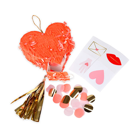 heart piñata favors