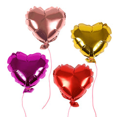 mini heart balloons