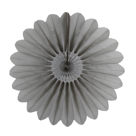 "18"" velvety grey paper fan"
