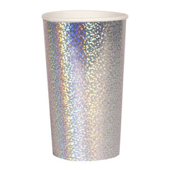meri meri holographic high ball cups