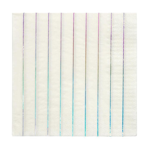 holographic stripe napkins