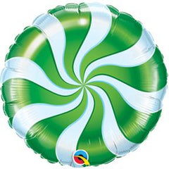 candy swirl balloon green and white