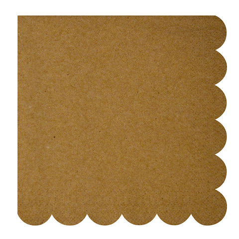 kraft scallop edge large napkins