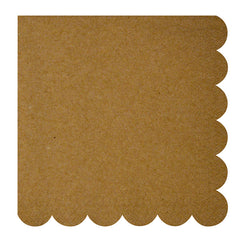 meri meri kraft scallop edge large napkins