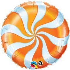 candy swirl balloon orange and white