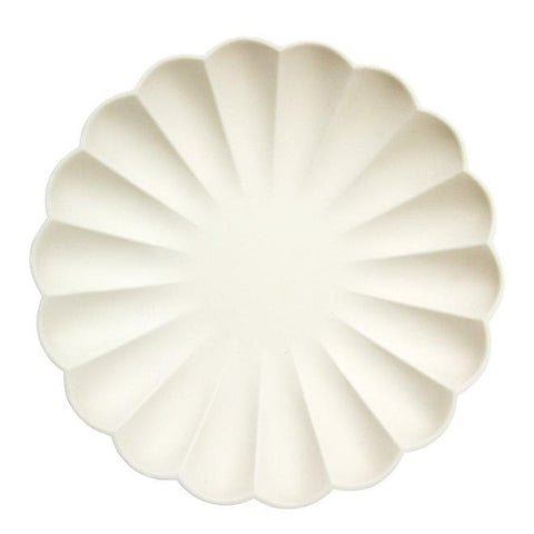 cream simply eco large plate