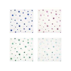 meri meri metallic star small napkins