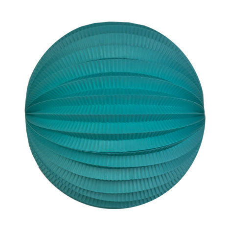 gem turquoise accordion paper lantern
