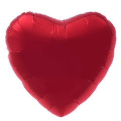 small mylar heart balloon