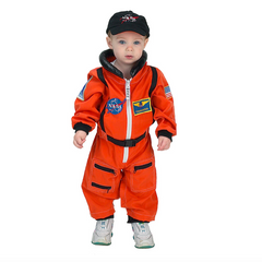 astronaut orange suit and cap