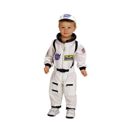 astronaut white suit and cap