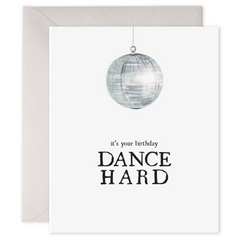 disco ball birthday greeting card