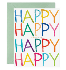 really happy birthday greeting card
