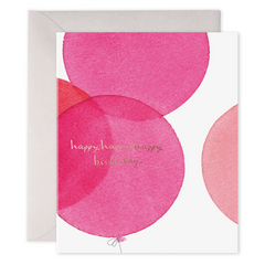 pink birthday balloon greeting card