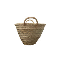 small woven Moroccan market basket
